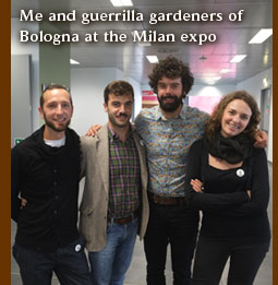 Richard Reynolds and guerrilla gardeners of Bologna